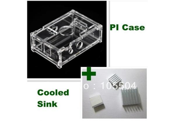Transparent Pi Box case shell for +pure aluminum heat sink set kit (3pcs/kit)