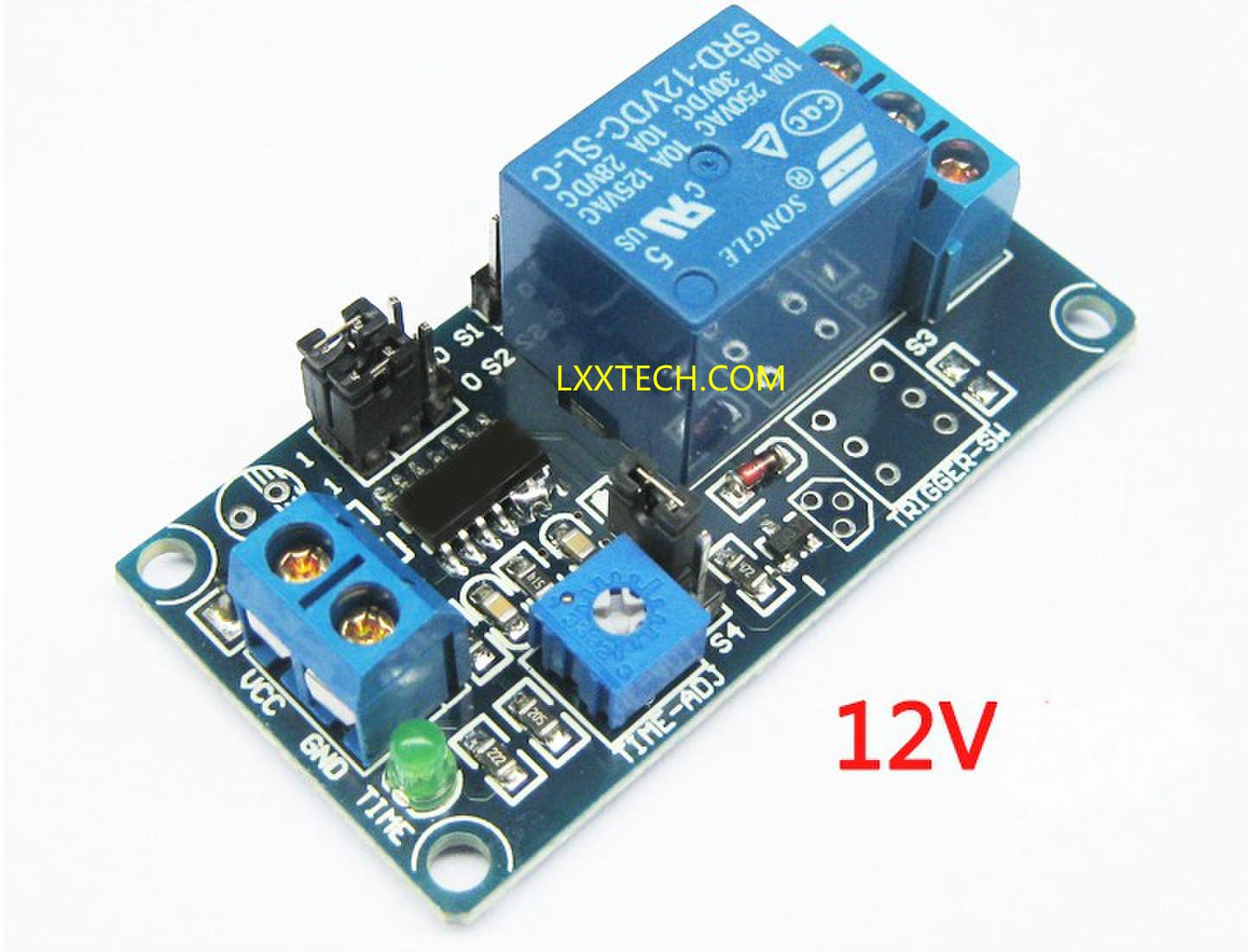 5v  9v  12v Power-delay Relay Module