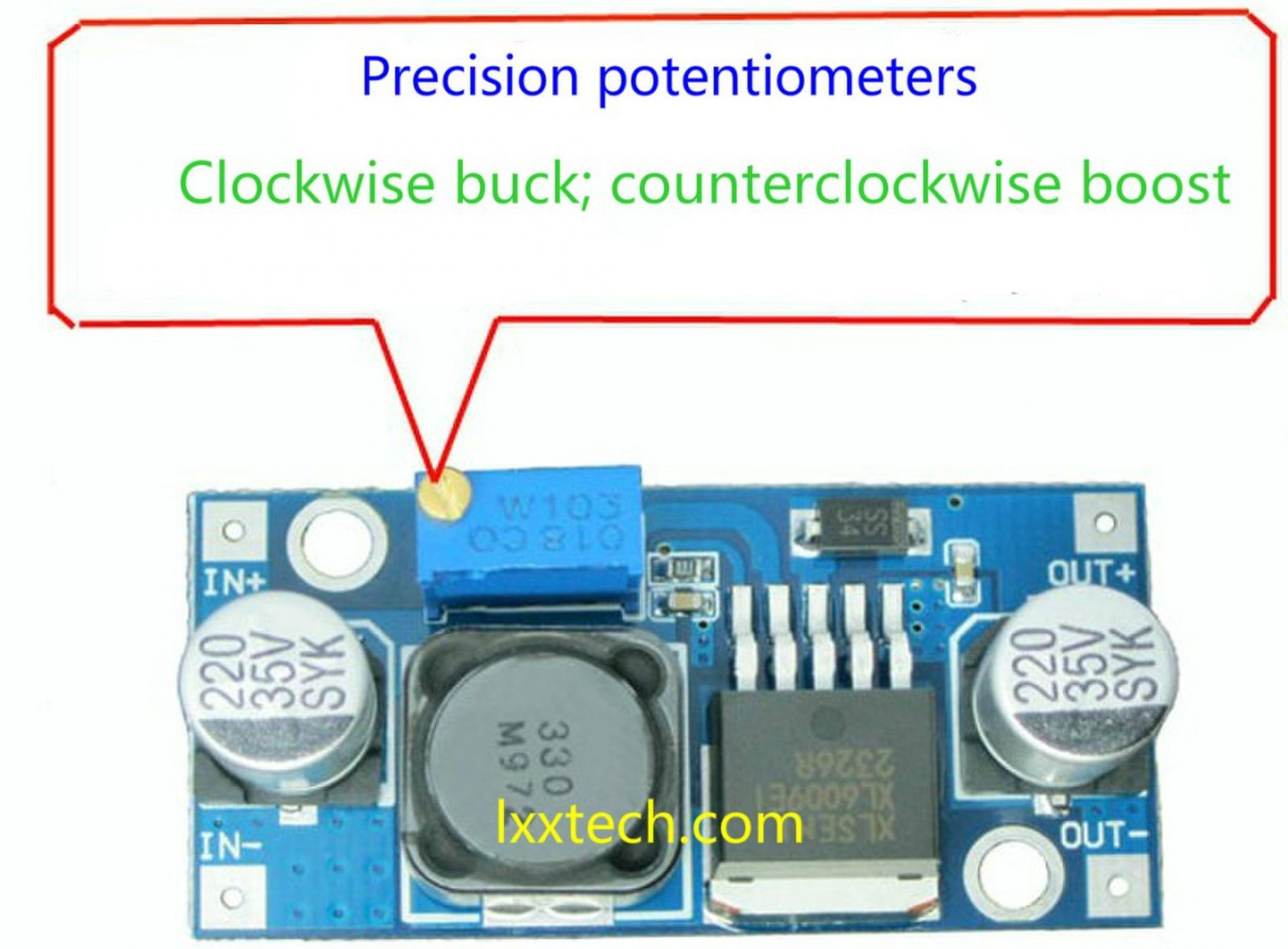 Xl6009 Dc Step Up Module Power 4a Maximum Output Current To Dimensions 43mm 21mm 14mm L W H Product Tag